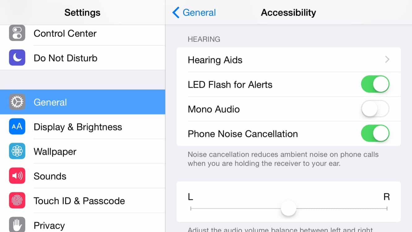 How do I make my camera LED flash when my iPhone rings?