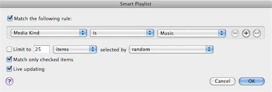 Excluding selected playlists from sync