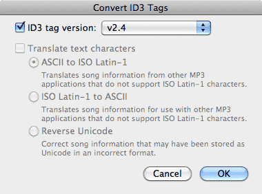 Updated ID3 tags in iTunes