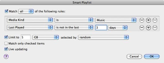 Syncing selected music to iPad