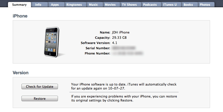 Upgrading to a new iPhone