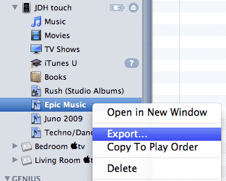 Transferring playlists from iPod touch to iPhone