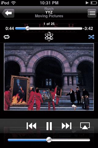 iPod touch shuffles songs