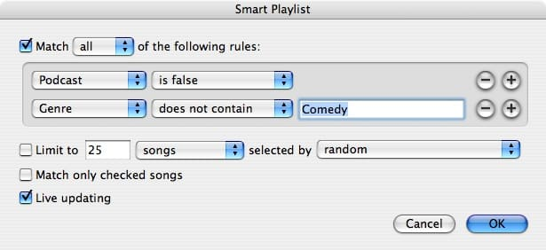 Excluding songs from Shuffle
