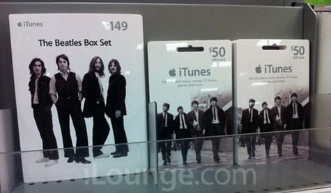 Apple now selling Beatles iTunes Gift Cards