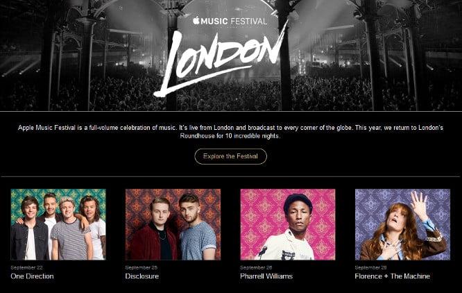 Pharrell Williams, Florence + The Machine to headline Apple Music Festival in September