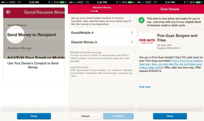 Apps: Bank of America, Dragon Quest VIII, Pocket 5.5 + TED 2.3