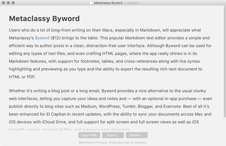 Metaclassy Byword