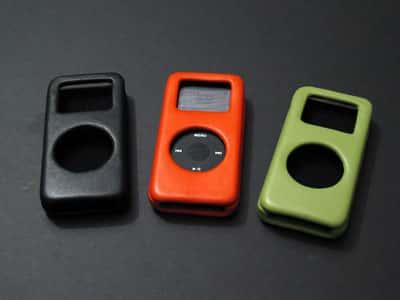 Black, Orange, and Green nano Cases