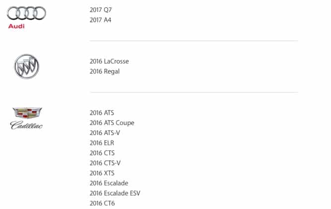 Apple webpage shows upcoming and current CarPlay car models
