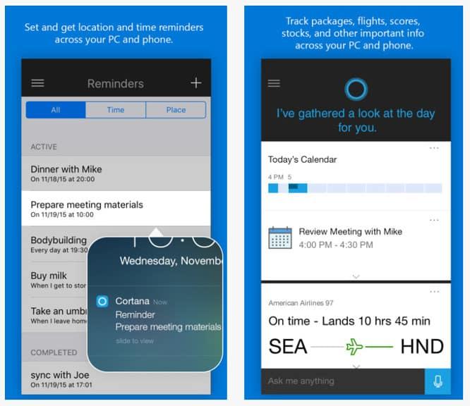 Microsoft's Cortana now available on iOS
