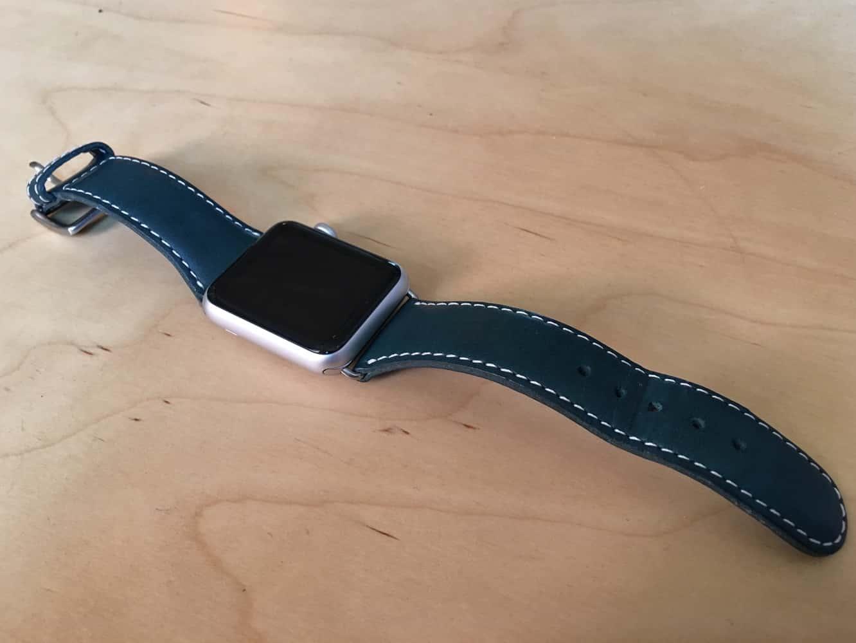 SLG Design D6 Italian Minerva Box Leather Strap for Apple Watch