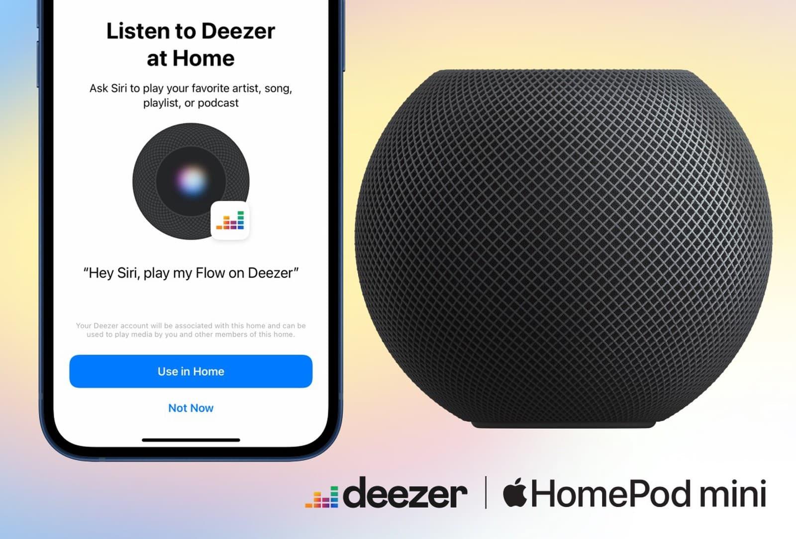 Deezer now support HomePod's Siri commands