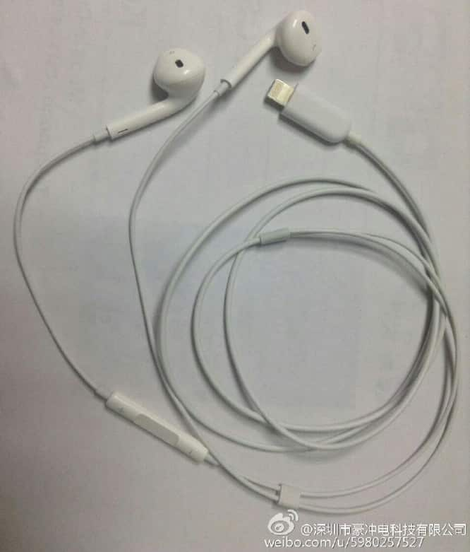 Leaked photos appear to show Apple EarPods with Lightning connector