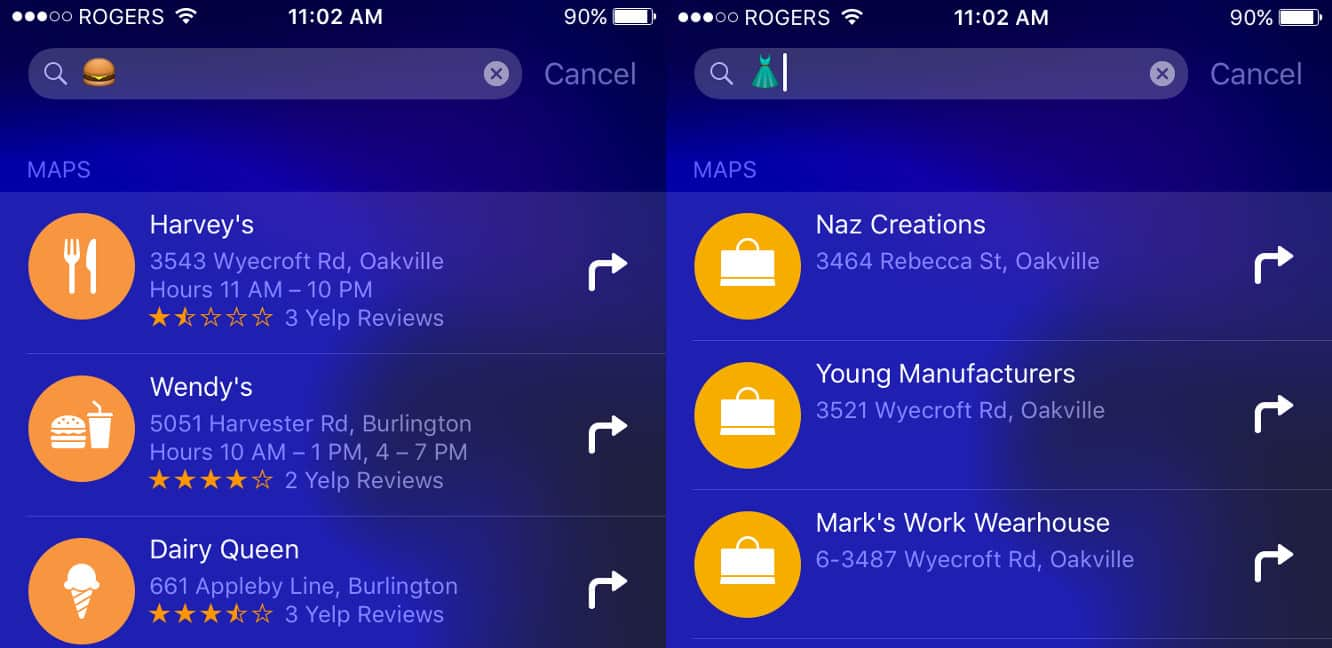 iOS Spotlight search now offers relevant results for some emoji