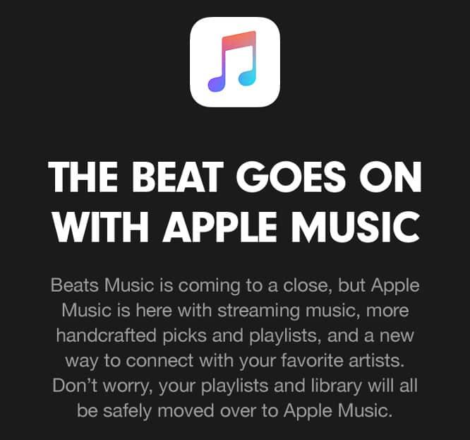 Apple shutting down Beats Music on Nov. 30