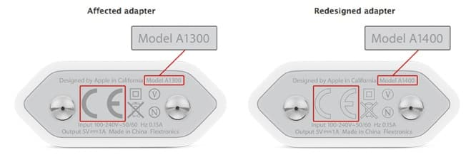 Apple announces exchange program for some European 5W power adapters