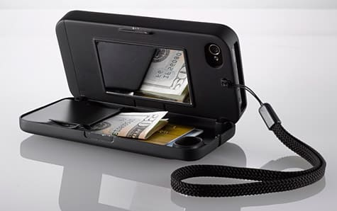 eyn case for iPhone 4/4S merges case with wallet