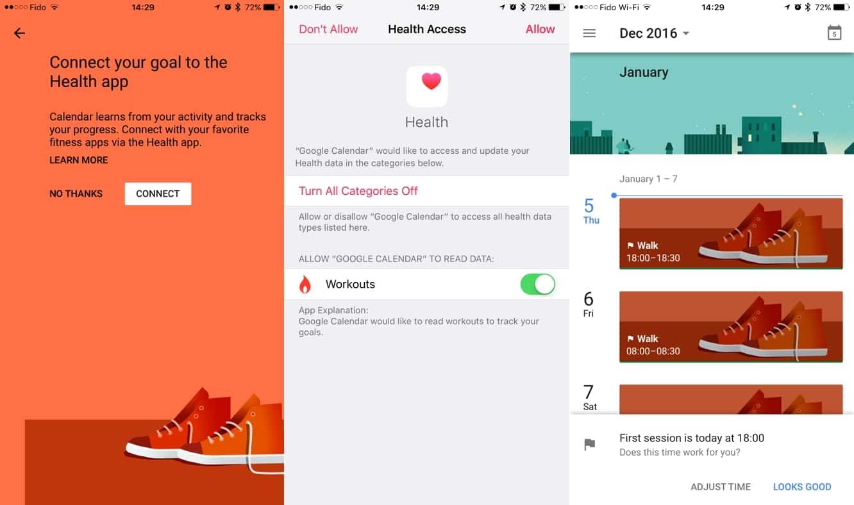 Google Calendar iOS app can now track workouts via HealthKit