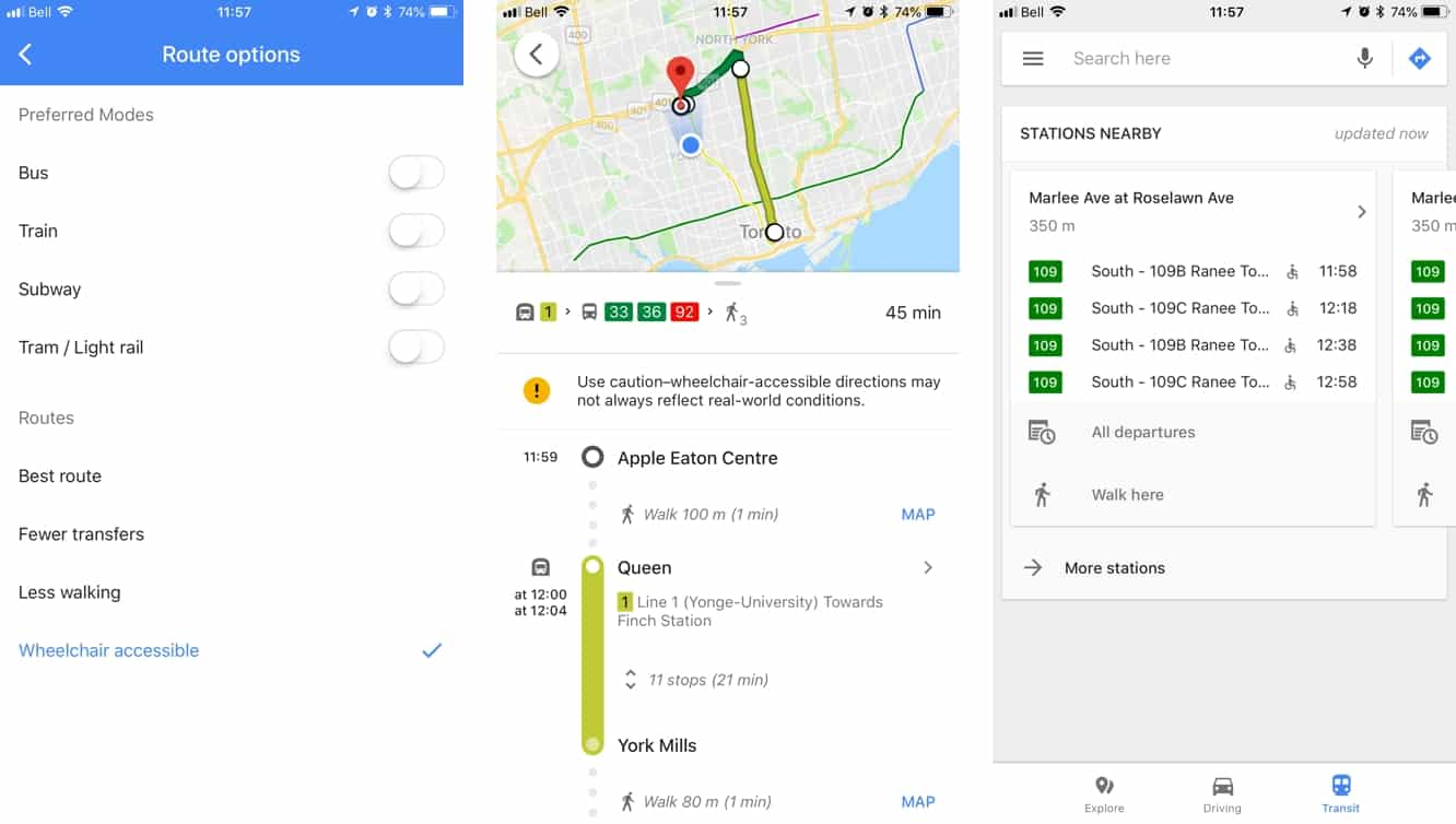Google Maps adds wheelchair-accessible transit navigation