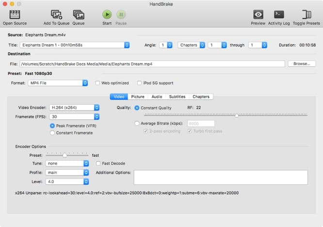 Handbrake Open Source Video Transcoder