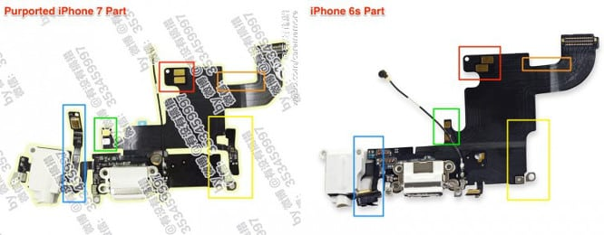 Rumor: Purported iPhone 7 component photo shows headphone jack intact