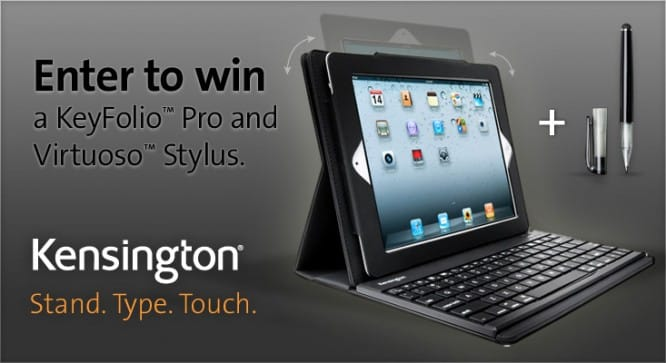 Kensington KeyFolio + Stylus Giveaway – Winners Announced