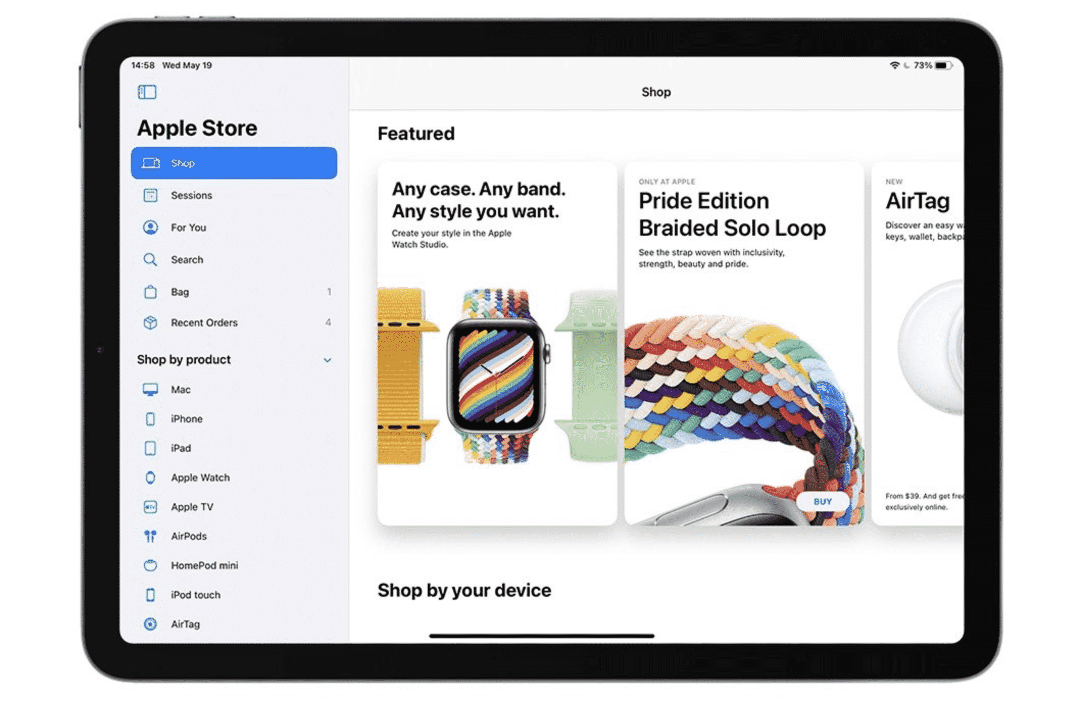 iPad Apple Store App