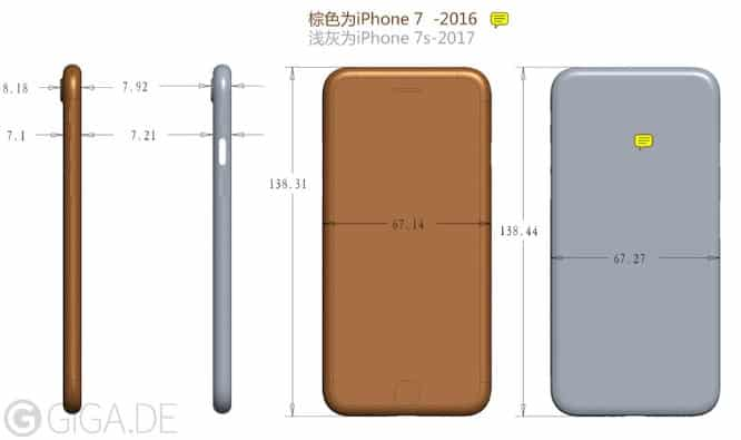 Report: iPhone 7s slightly larger than iPhone 7 due to glass backing