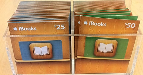 Apple now selling iBooks Gift Cards