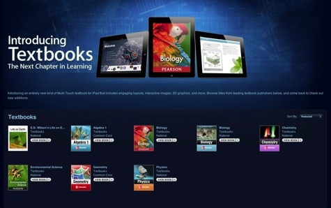 iBookstore adds new Textbook category for interactive textbooks