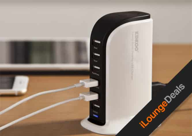 Daily Deal: Kinkoo 40W 6-Port High Speed Charger