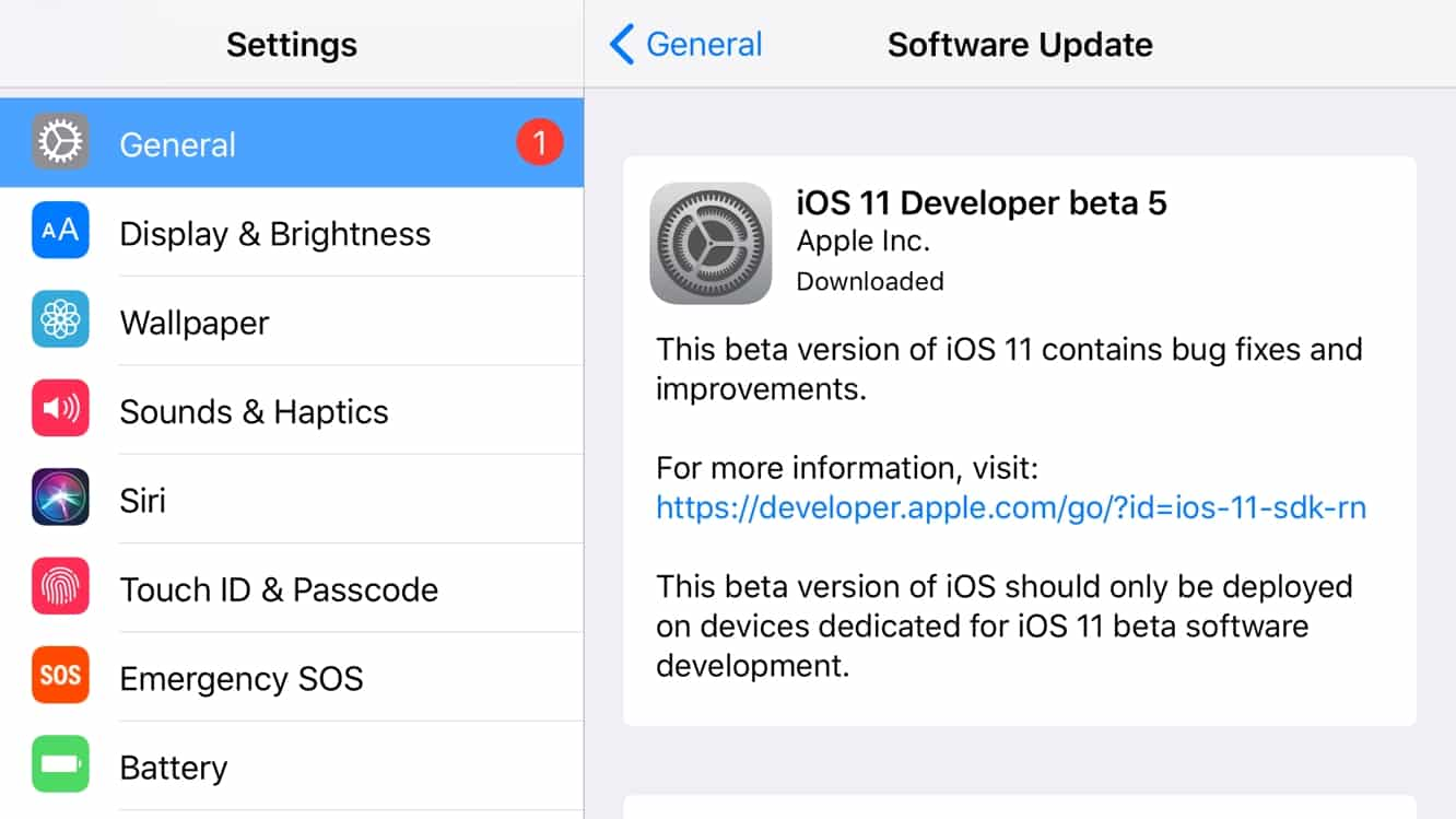 Apple releases fifth round of developer betas for iOS 11, tvOS 11 + watchOS 4