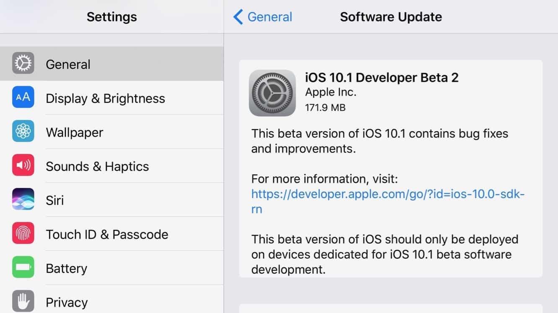Apple releases second iOS 10.1, watchOS 3.1, tvOS 10.0.1 developer betas
