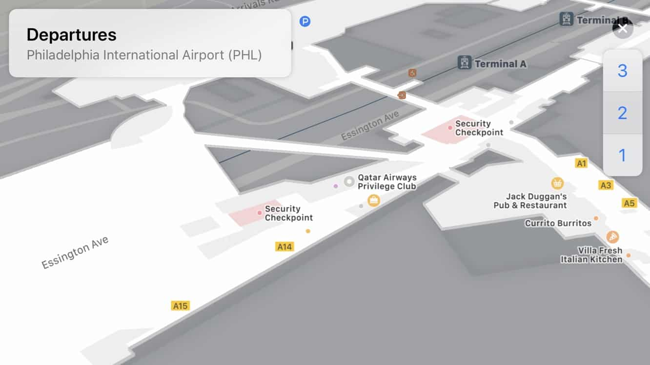 Indoor Maps for Airports and Malls now appearing in iOS 11 betas