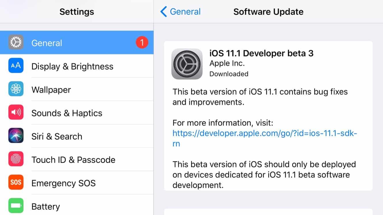 Apple releases third developer betas for iOS 11.1, tvOS 11.1 + watchOS 4.1