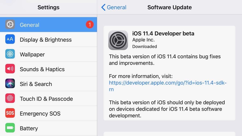 Apple releases first iOS 11.4 developer beta