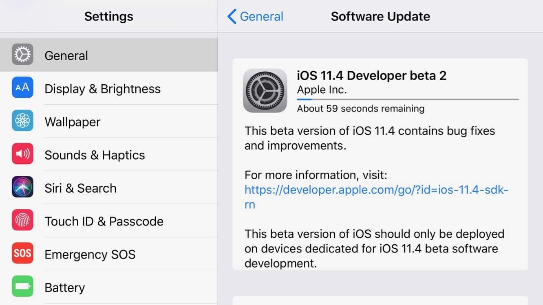 Apple releases second developer betas for iOS 11.4, tvOS 11.4, watchOS 4.3.1