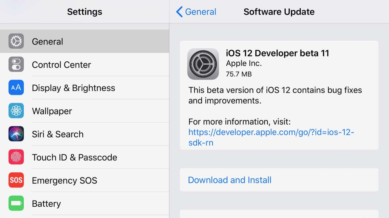 Apple releases iOS 12 beta 11 and ninth tvOS 12 beta
