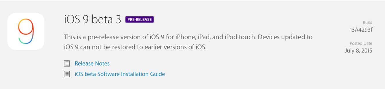 Apple releases third iOS 9 beta to developers, adds full Apple Music support
