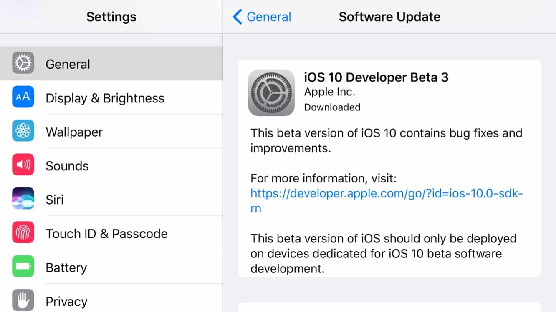 Apple releases third developer betas for iOS 10, tvOS 10 + watchOS 3