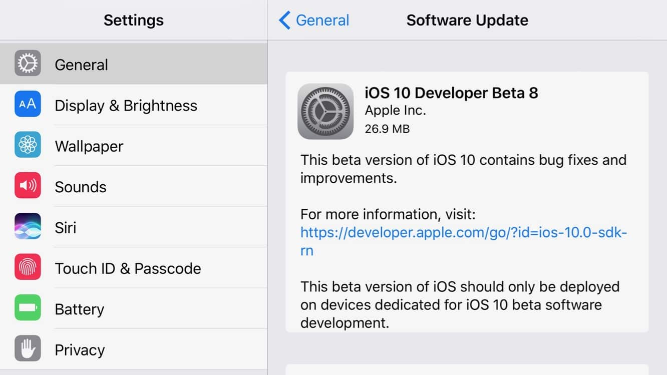 Apple releases new round of iOS 10 and tvOS 10 betas