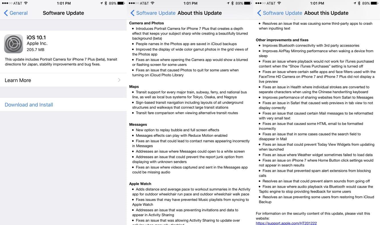 Apple releases iOS 10.1, tvOS 10.0.1, watchOS 3.1