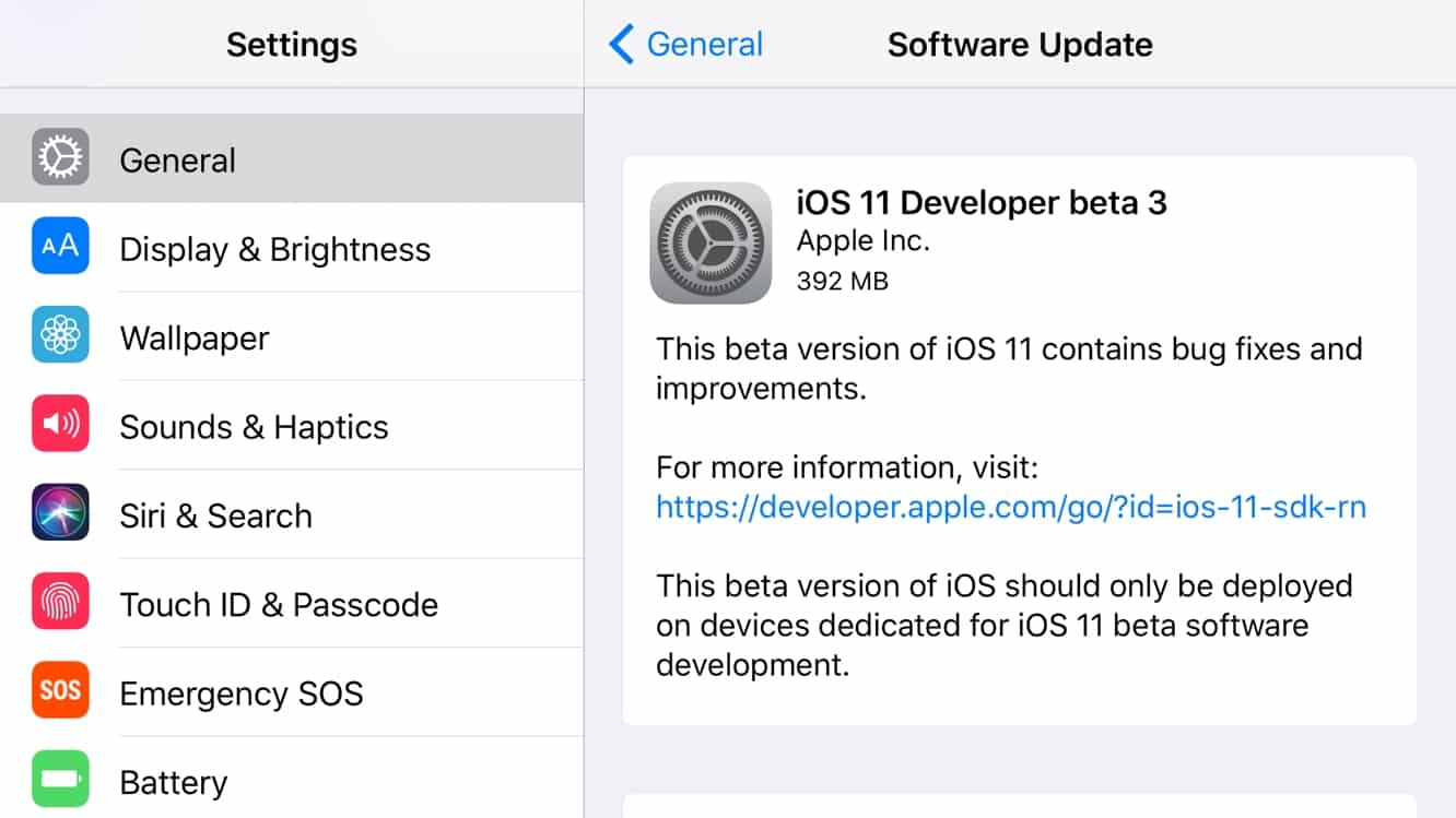 Apple releases third developer betas for iOS 11 and tvOS 11