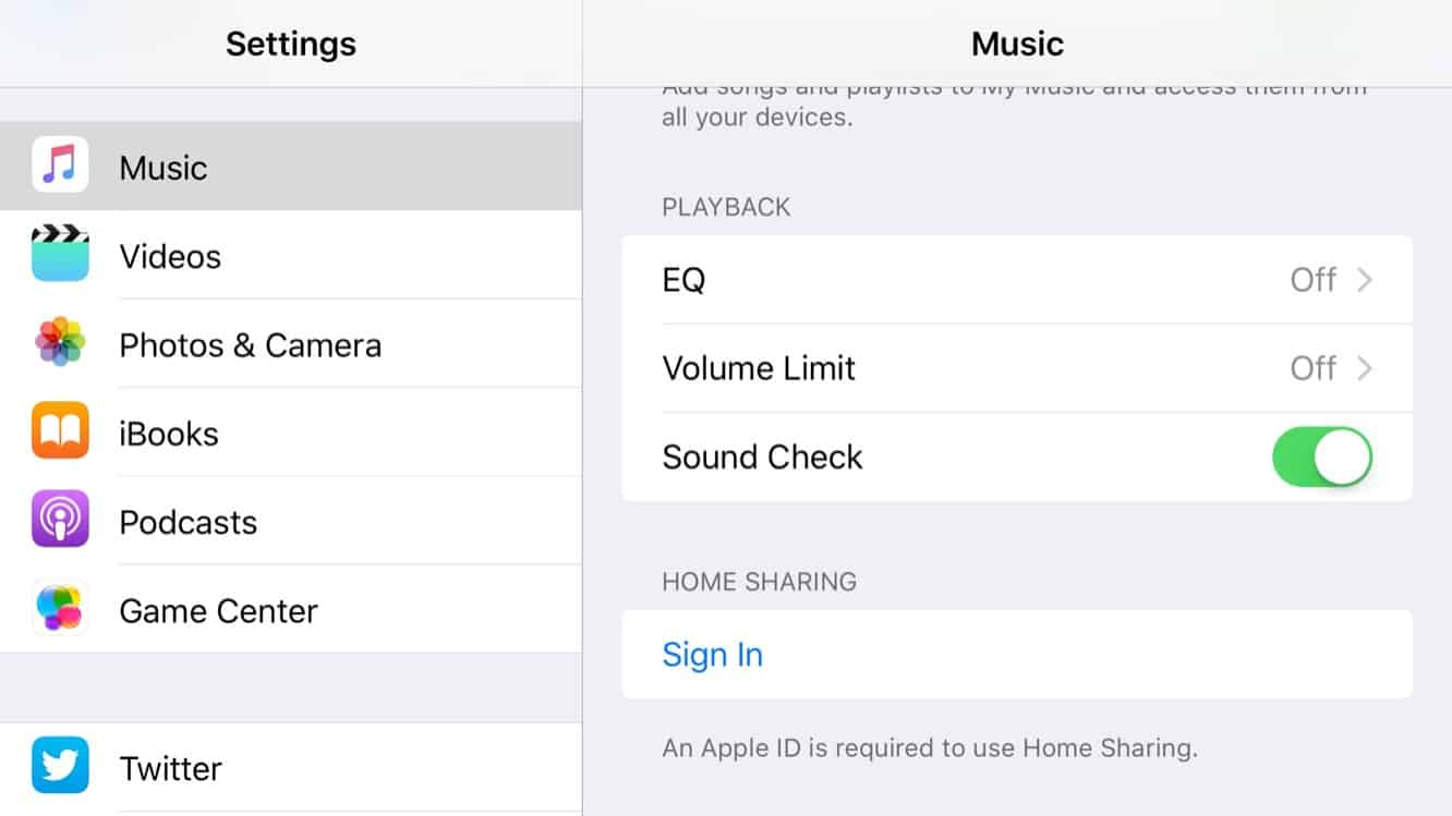 Home Sharing for Music returns in iOS 9 beta 4
