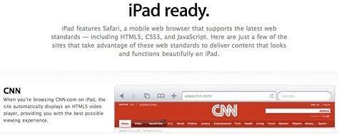 Apple lists iPad-ready websites