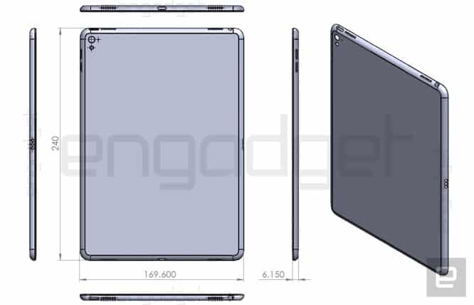Alleged iPad Air 3 drawing shows Smart Connector, four speakers, camera flash