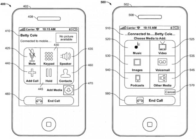 Apple patents point to in-call media sharing, multi-touch Click Wheels