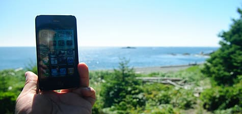 Photo of the Week: iPhone in British Columbia