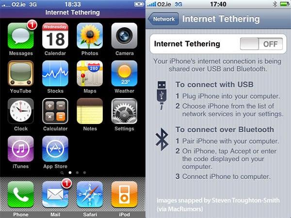 Developer unlocks USB tethering in iPhone OS 3.0